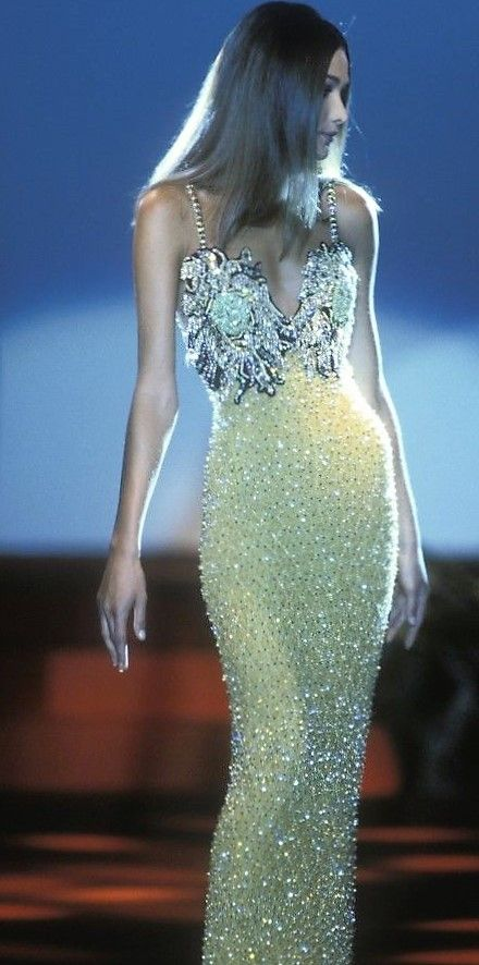 Carla Bruni in Gianni Versace
