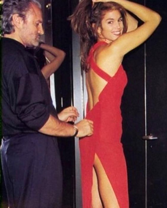 Cindy Crawford in Versace