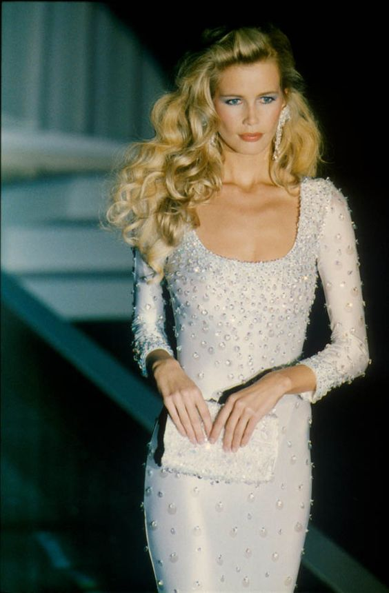 Claudia Schiffer for Versace 1995