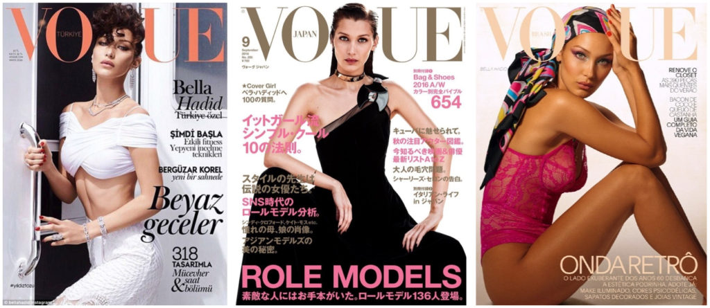 Bella Hadid Vogue cover