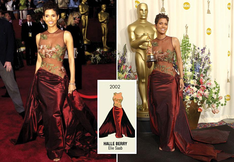 Halle Berry in Elie Saab at the 2002