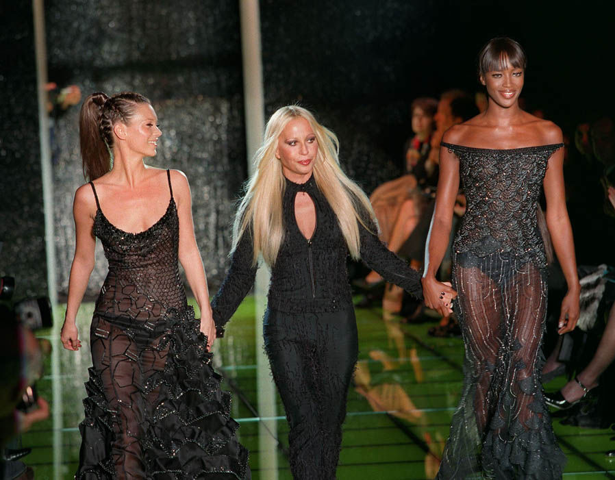 Donatella Versace first collection